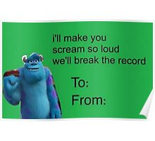 i'll make you scream so loud we'll break the record // VALENTINE'S DAY // MONSERS. INC Poster