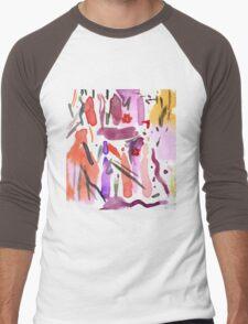 reds and purples Men's Baseball ¾ T-Shirt