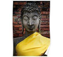 Yellow Buddha Poster