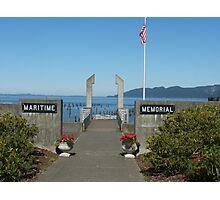 Maritime Memorial In Astoria, Oregon Photographic Print