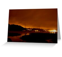 River at Night Greeting Card
