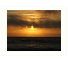 Sunset on South Beach Art Print