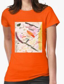 yellow streak Womens Fitted T-Shirt