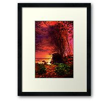 The path to the Sea. Framed Print