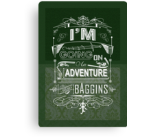 I'm going on an adventure! - Bilbo Baggins Canvas Print