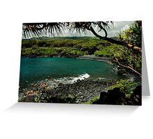 Honokalani Black Sand Beach, Maui Greeting Card