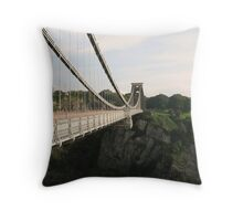 Clifton Suspension Bridge Throw Pillow