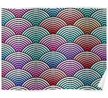 Colorful Concentric Circle Pattern  Poster