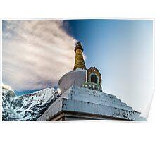 Stupa in Dingboche Poster