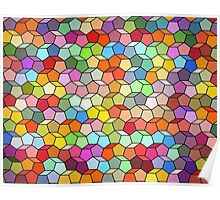Colorful Polygon Pattern  Poster