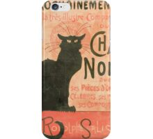 Le chat noir Manifesto iPhone Case/Skin