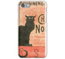 Le chat noir Manifesto iPhone Case/Skin