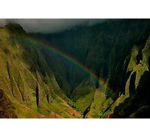 Napali Valley Rainbow Photographic Print
