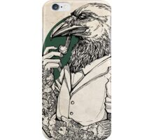 The Crow Man print iPhone Case/Skin