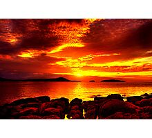 Bunbeg Fiery Sunset Photographic Print