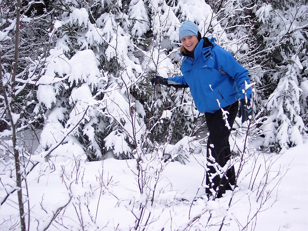 Snowshoeing in Winter by Braedene