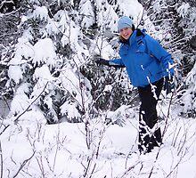 Snowshoeing in Winter by Braedene