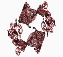 Red Paisley Bandana Fish Kids Clothes