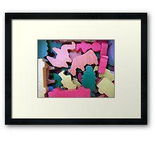 Wooden Animals Framed Print