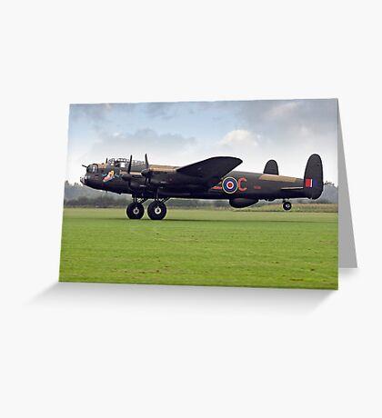 "Lancaster B.VII NX611 G-ASXX ""Just Jane"" Greeting Card"