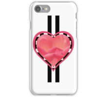 Valentine's Pink Floral Heart Decoration - Modern Design iPhone Case/Skin