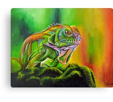 The Rainbow Lizard Canvas Print