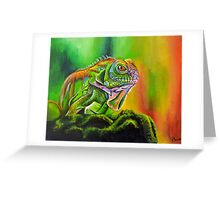 The Rainbow Lizard Greeting Card