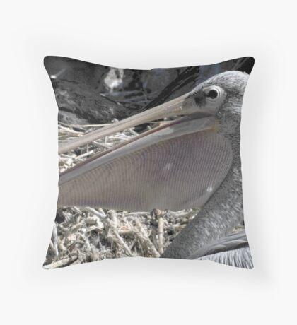 Pelican Pouch 1 Throw Pillow