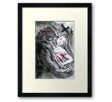 Wolf in hell Framed Print