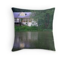 Creekside House Throw Pillow