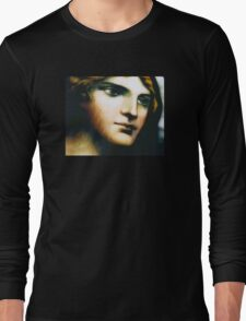 Angel - Stained Glass - Companion Portrait Long Sleeve T-Shirt