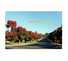 Greetings from Drouin, Australia Art Print