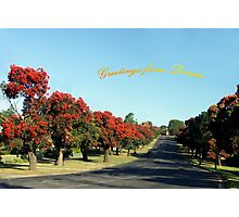 Greetings from Drouin, Australia Photographic Print