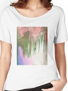 green and pink Women's Relaxed Fit T-Shirt