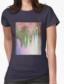 green and pink Womens Fitted T-Shirt