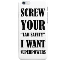 Lab safety iPhone Case/Skin