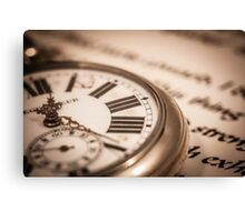 Time and Words Canvas Print
