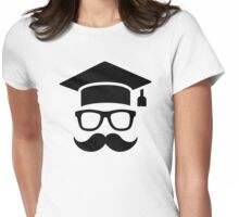 Student mustache graduation Womens Fitted T-Shirt