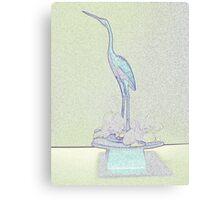 Crane in Pastels Canvas Print