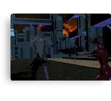 Night Fight Canvas Print
