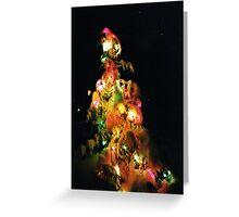 Christmas Lights Under Snow Greeting Card