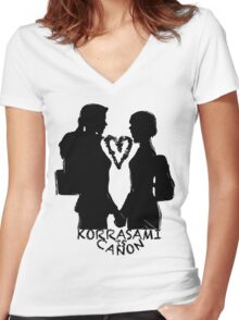 KORRASAMI IS CANON v2 Women's Fitted V-Neck T-Shirt