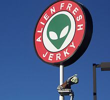 Alien Fresh Jerky Sign by Snoboardnlife