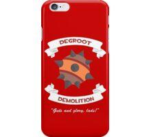 Degroot Demolition (RED) iPhone Case/Skin
