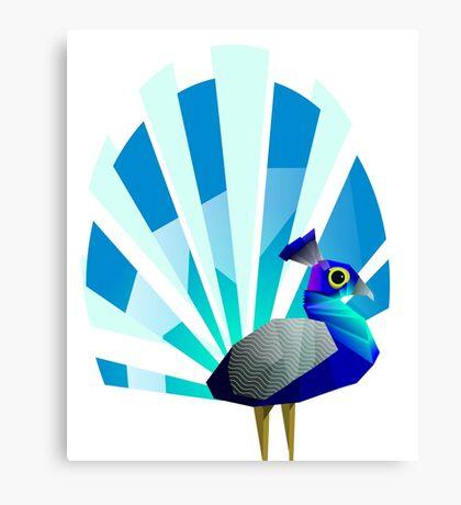 Peacock solo Canvas Print