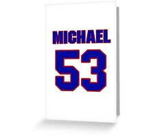 National football player Michael Young jersey 53 Greeting Card