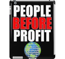 People Before Profit - black iPad Case/Skin