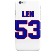 National football player Len Ford jersey 53 iPhone Case/Skin