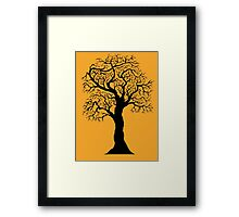 black tree  Framed Print