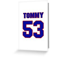 National football player Courtney Hall jersey 53 Greeting Card